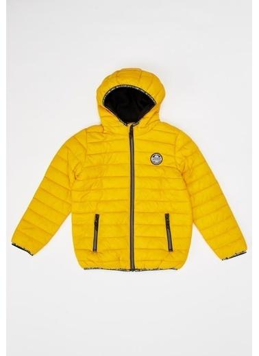 DeFacto Erkek Çocuk Kapüşonlu Mont Sarı
